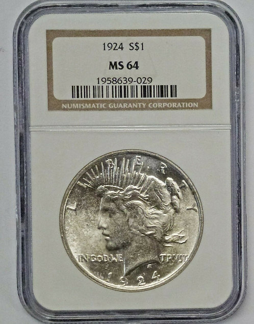 1924 PEACE Dollar NGC MS64 VAM 1AH1