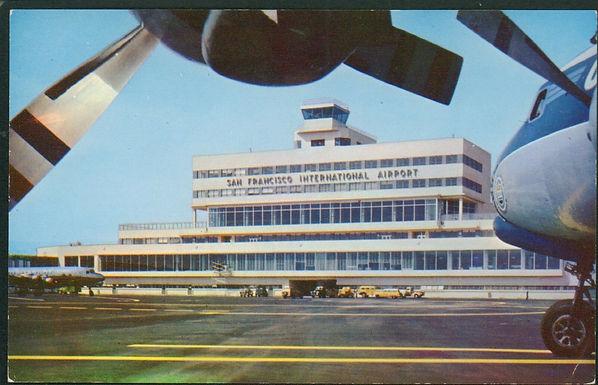 Postcard San Francisco International Airport Terminal Kodachrome