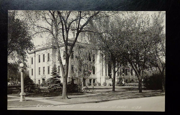 Antique RPPC Postcard, Court House Wahpeton, North Dakota