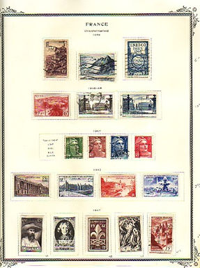 France Stamp Collection, pages to 1993 High catalog value - Lot 1433