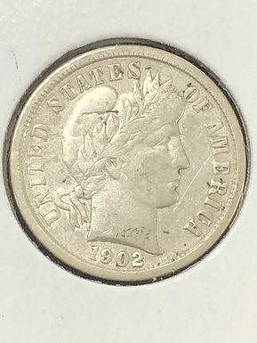 1903-O Barber Silver Dime F  details