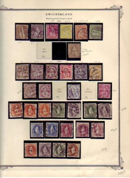 Switzerland Stamp Collection, Scott catalog value $12,229. Lot 1285