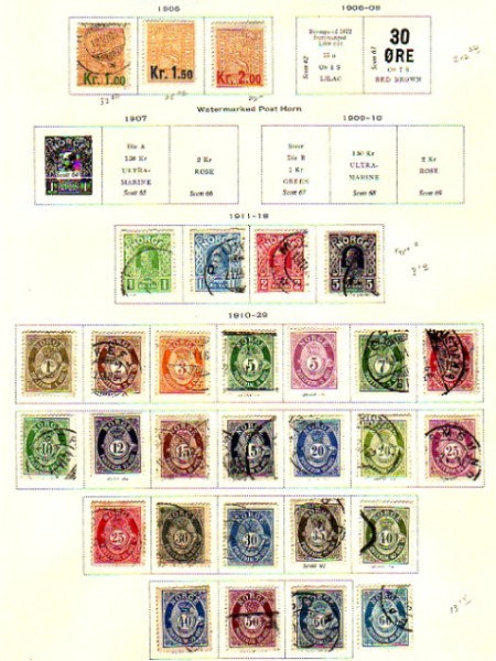 Norway Stamp Collection on Scott pages to 1994,  Lot # 1398