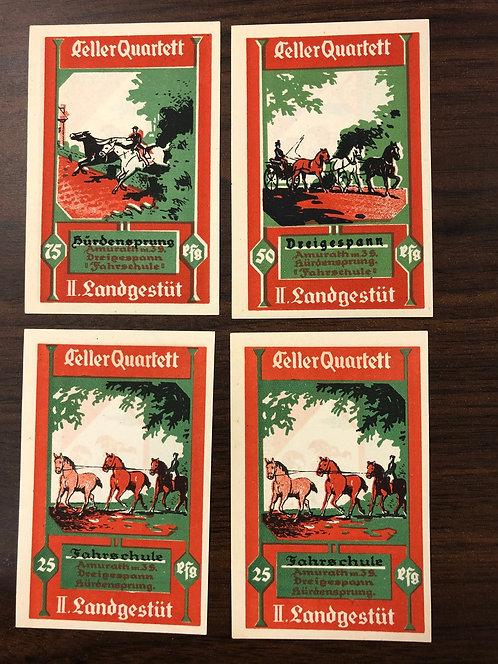 4 NOTGELD Emergency Notes 1922 German Weimar Republic, Gutschein Stadt Gelle