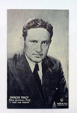 """Film Actor SPENCER TRACY Mutoscope postcard promo for 1940 """"I Take This Women"""""""