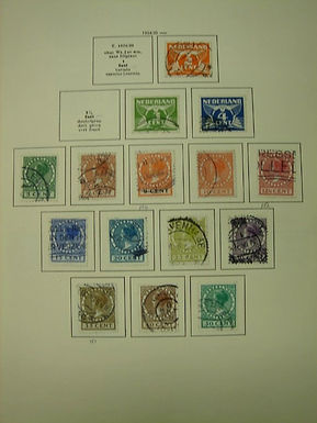 Netherlands Stamp Collection, all hinged in Schaubek album, Lot 884