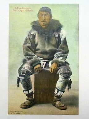 RPPC Postcard Eskimo Kit-Le-Lourigen East Cape Siberia AYPE