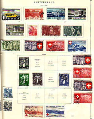 Switzerland Stamp Collection, classics to 1962,Lot 929
