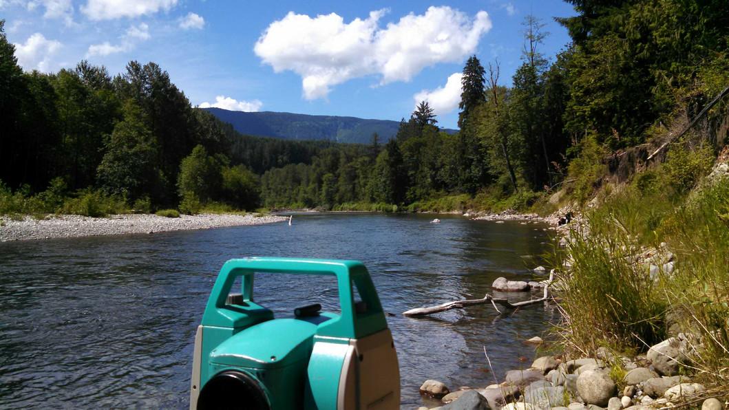 North Fork Stillaguamish Up River from O