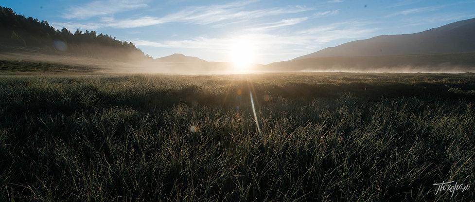 Рассвет на плато Ештыкель.