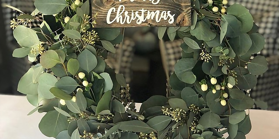 Fresh Holiday Eucalyptus Wreath and Canvas Workshop with AR Workshop