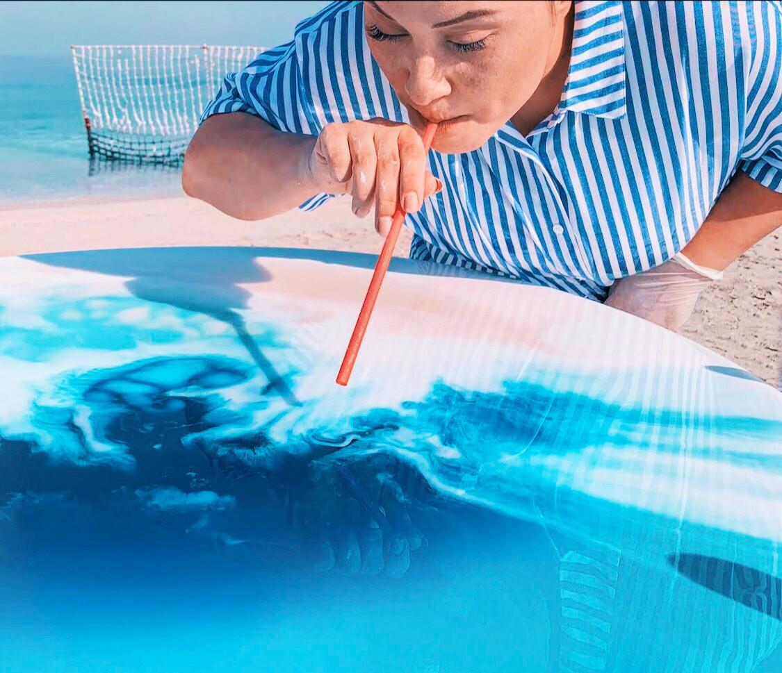 Resin Art WORKSHOPS   Dina Khataan Art   Dubai