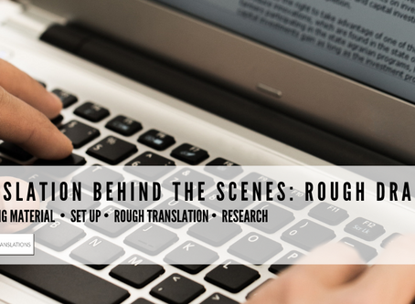Translation Behind the Scenes: Rough Draft