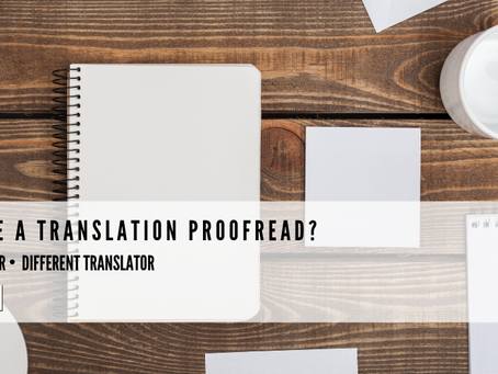 Why have a translation proofread?