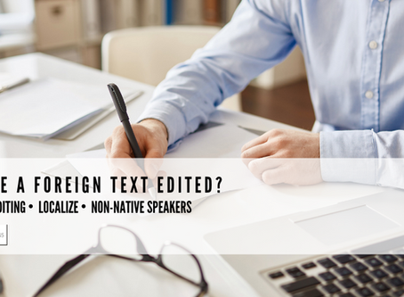 Why have a foreign text edited?