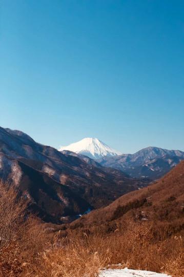 道志村からの富士山