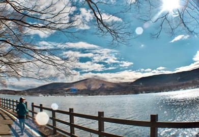 山中湖をゆったりとトレッキング