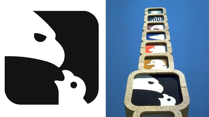 1975 年 Lance Wyman 為國家動物園所設計之視覺指標系統。