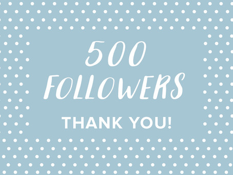 We've reached 500 Instagram followers!