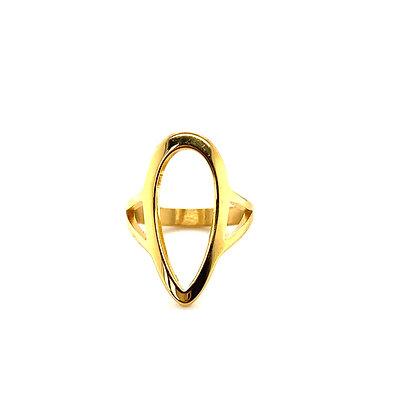 Open Long Tear Drop Ring