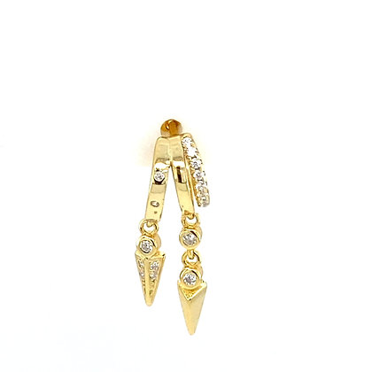Single Gold Spike Stud Chain
