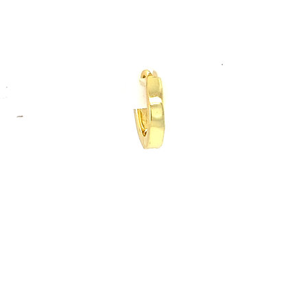 Single Plain Gold Huggie