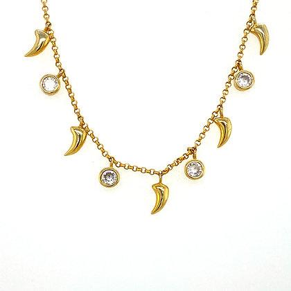 Gold Crystal Spike Choker