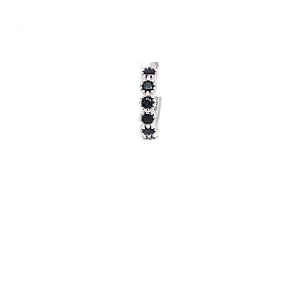 Single  Black Vintage Crystal Huggie