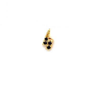 Single Mini Black Lightning Crystal Stud