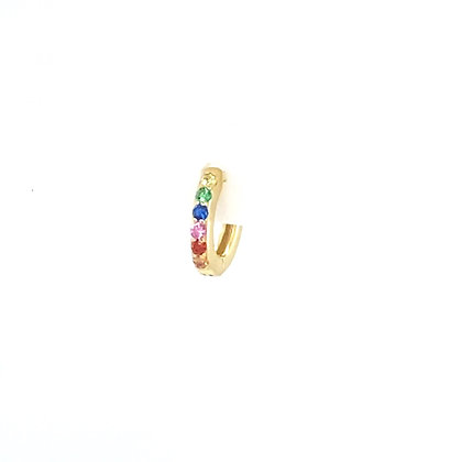 Single Gold Mini Rainbow Huggie