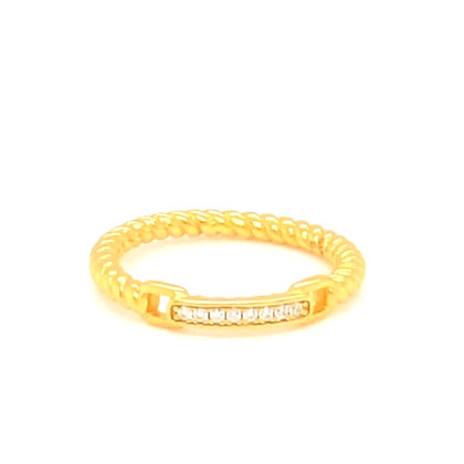 Gold Crystal Chain Ring