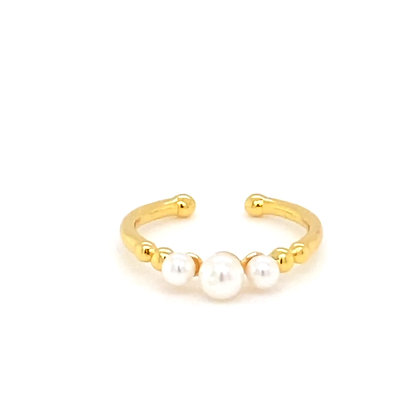 Gold & Pearl Adjustable Ring