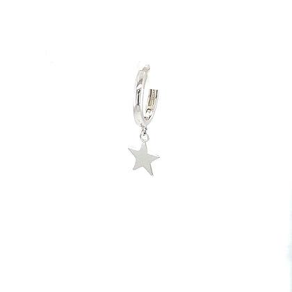 Single Star Charm Huggie Earring