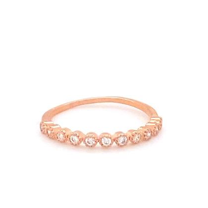 Rose Gold Crystal Stacking Ring