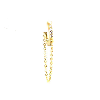 Single Crystal Lolly Huggie Chain