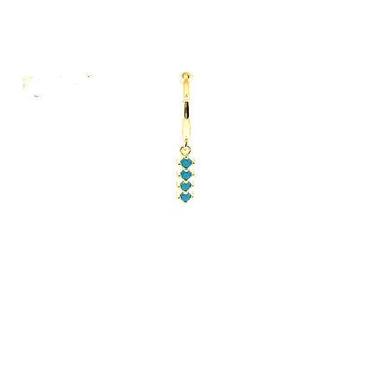 Single Turquoise Dotty Charm Huggie