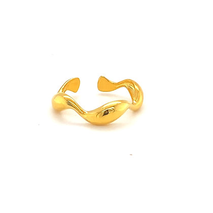 Twisted Adjustable Stacking Ring