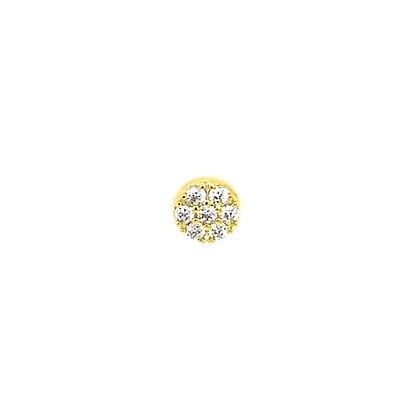 Single Crystal Pave Round Stud