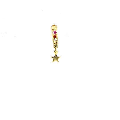 Single Ginny Rainbow Star Charm Huggie