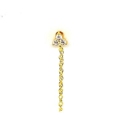 Single Gold Trinity Stud Chain
