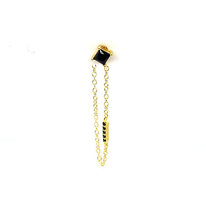 Single Black Stone Gerry Stud Chain