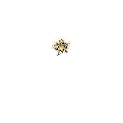 Single Open Star Crystal Stud