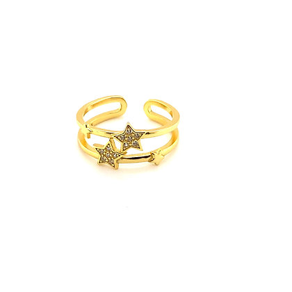 Crystal Star Adjustable Ring