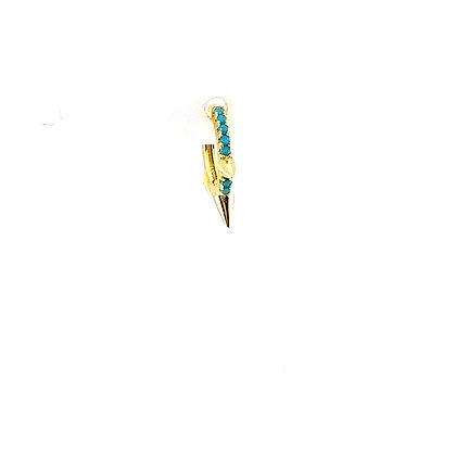 SingleTurquoise Spike Huggie