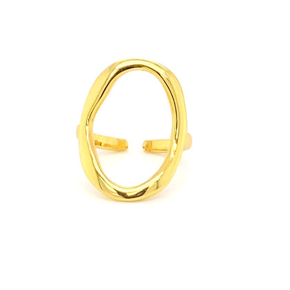 Large Open Circle Adjustable Ring