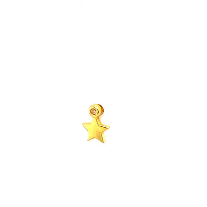 Single Gold Star Crystal Stud