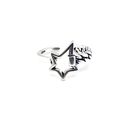 Retro Star Adjustable Ring