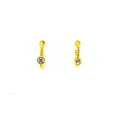 Pair Of Twisted Layla Stud Hoops