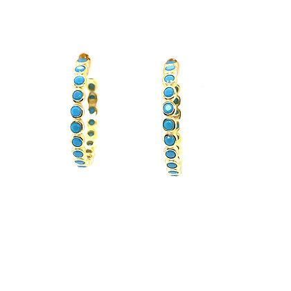 Pair Of Turquoise Esme Stud Hoops