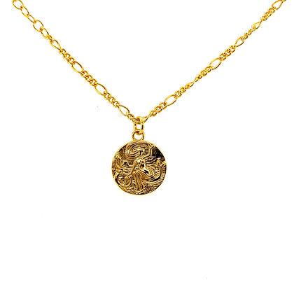 Gold Mermaid Coin Choker